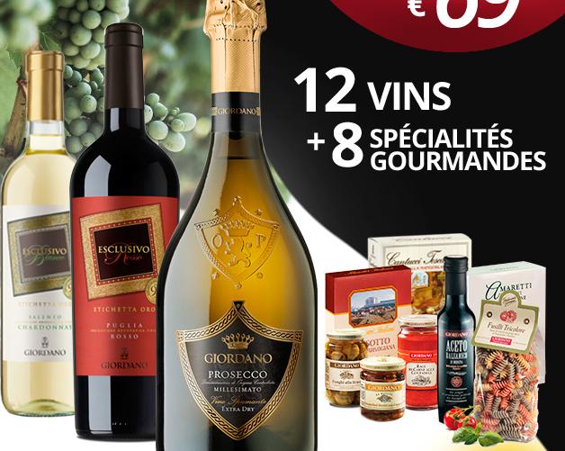 SEULEMENT 69 EUR 12 VINS +8 SPÉCIALITÉS GOURMANDES