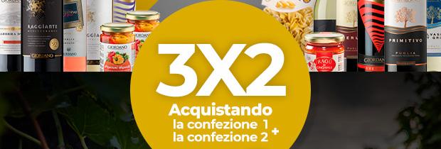 3x2 Aquistando la confezione 1 + la confezione 2